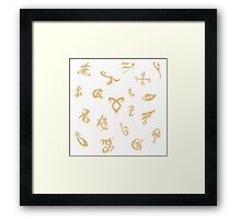 Shadowhunters runes (gold) Framed Print