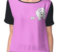 coton de tulear in my pocket Chiffon Top