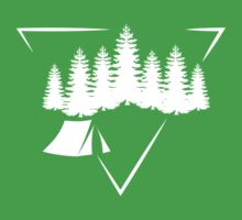 Triangle Forest Wild Camping T Shirt One Piece - Short Sleeve