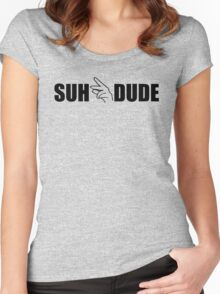 Suhdude Women's Fitted Scoop T-Shirt