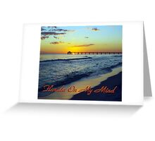 Florida On My Mind, Miami Sunset Greeting Card
