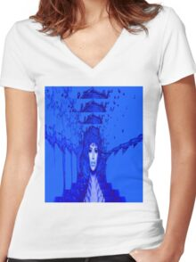 Blue Trance Women's Fitted V-Neck T-Shirt