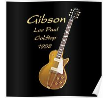 Gibson Les Paul Goldtop 1952 Poster