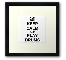 Play Drums (Black) Framed Print