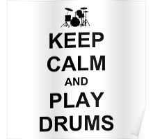 Play Drums (Black) Poster