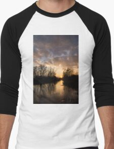 Winter Sunset - Lake Ontario, Toronto, Canada Men's Baseball ¾ T-Shirt