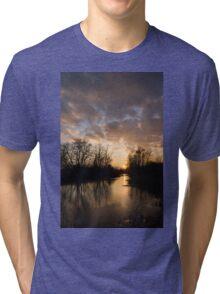 Winter Sunset - Lake Ontario, Toronto, Canada Tri-blend T-Shirt