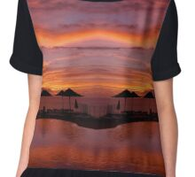 Sunset Sunshades Chiffon Top