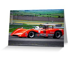 1969 McLaren M8C Can Am Racecar Greeting Card