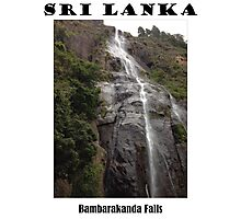 Bambarakanda Waterfall - Sri Lanka Photographic Print