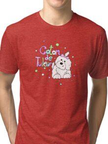 Coton de tulear in bubbles Tri-blend T-Shirt