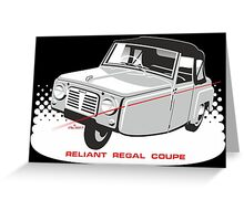 Reliant Regal Coupe (Mark 1) Greeting Card