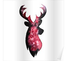 Stag Watercolour Poster