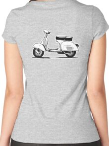 VESPA, Scooter, Wasp, Retro, Mod, Mods, Piaggio, Italy, Italian Women's Fitted Scoop T-Shirt