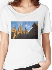 Barcelona's Marvelous Architecture - Cathedral of the Holy Cross and Saint Eulalia Women's Relaxed Fit T-Shirt