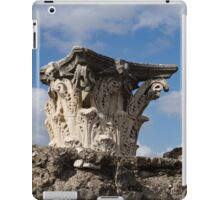 Ancient Pompeii Broken Treasures - Classical Corinthian Column Capital Left  iPad Case/Skin