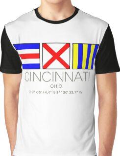 CINCINNATI, OHIO Nautical Flag Art Graphic T-Shirt