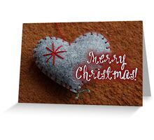 Merry Xmas - Heart & Felt Greeting Card