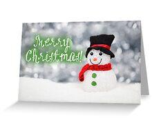 Merry Xmas - Snowman 04 Greeting Card