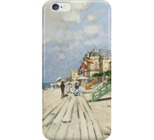Claude Monet - Beach At Trouville 1870. Famous Paintings. Impressionism iPhone Case/Skin
