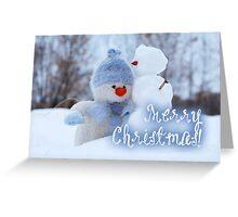 Merry Xmas - Snowman 08 Greeting Card