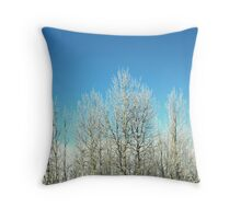 Frost in the Air Throw Pillow