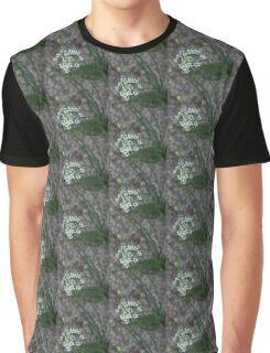 Calming Grays and White Stars Graphic T-Shirt