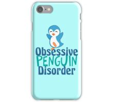 Cute Obsessive Penguin Disorder iPhone Case/Skin