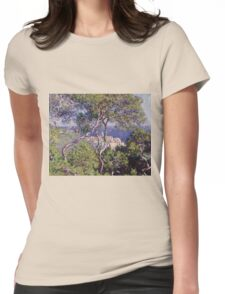 Claude Monet - Bordighera 1884  Impressionism . Famous paintings Womens Fitted T-Shirt