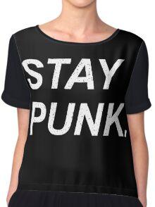 Stay Punk. Chiffon Top