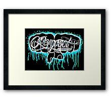 BLUE KNUCKLES RESPECT Framed Print