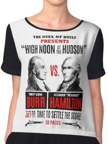 Burr vs Hamilton History Chiffon Top