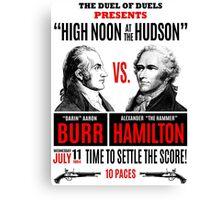 Burr vs Hamilton History Canvas Print