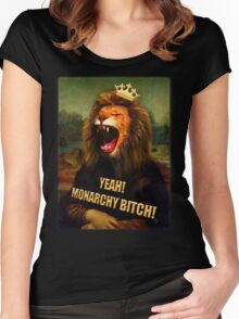 Monarchy bitch Women's Fitted Scoop T-Shirt