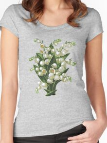 Lilies of the valley - acrylic painting Women's Fitted Scoop T-Shirt