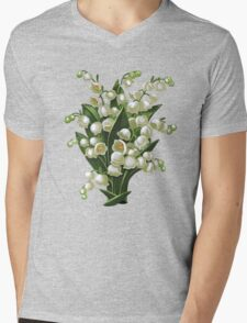 Lilies of the valley - acrylic painting Mens V-Neck T-Shirt