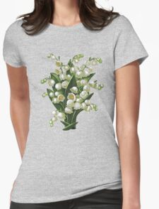 Lilies of the valley - acrylic painting Womens Fitted T-Shirt