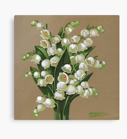 Lilies of the valley - acrylic painting Canvas Print