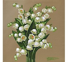 Lilies of the valley - acrylic painting Photographic Print