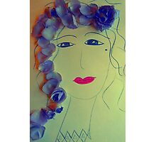 Lavender Girl Photographic Print