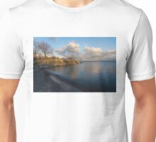 Shimmering Late Afternoon Light - Lakeside Zen Unisex T-Shirt