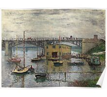 Impressionism: Claude Monet - Bridge At Argenteuil On A Gray Day 1886  Poster