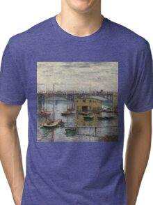Impressionism: Claude Monet - Bridge At Argenteuil On A Gray Day 1886  Tri-blend T-Shirt