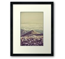 Mountains in the background IV Framed Print