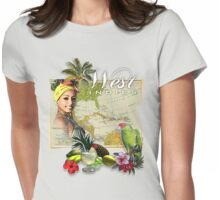 west indies Womens Fitted T-Shirt