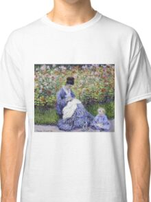 Claude Monet - Camille Monet And A Child In The Artist S Garden In Argenteuil 1875 Impressionism Classic T-Shirt