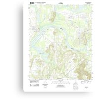 USGS TOPO Map Alabama AL Triana 20110921 TM Canvas Print