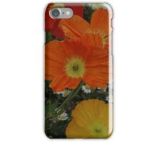 yellow and red floral iPhone Case/Skin