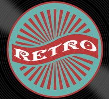 Retro vinyl record design Sticker