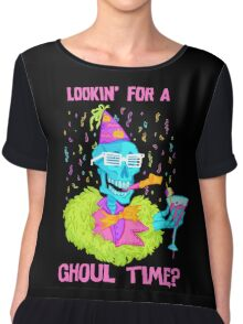 Lookin' for a ghoul time? Chiffon Top